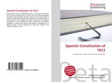 Bookcover of Spanish Constitution of 1812