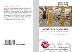 Bookcover of Academica Genevensis