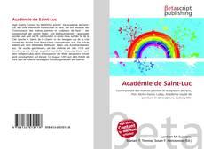 Couverture de Académie de Saint-Luc