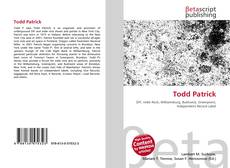 Bookcover of Todd Patrick