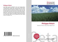 Bookcover of Philippe Pétain