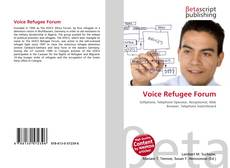 Bookcover of Voice Refugee Forum