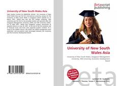 Bookcover of University of New South Wales Asia