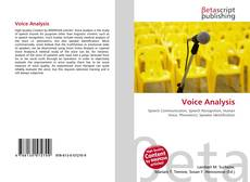 Bookcover of Voice Analysis