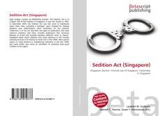 Borítókép a  Sedition Act (Singapore) - hoz