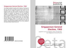 Bookcover of Singaporean General Election, 1963