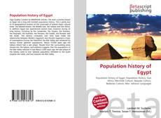 Population history of Egypt的封面