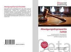 Bookcover of Abwägungsdisproportionalität