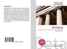 Bookcover of Abwägung