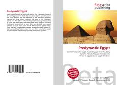 Capa do livro de Predynastic Egypt
