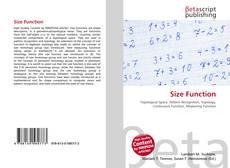 Buchcover von Size Function