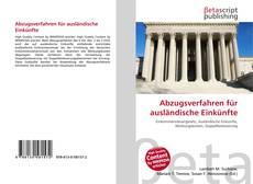 Bookcover of Abzugsverfahren für ausländische Einkünfte