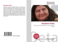 Bookcover of Resident (title)