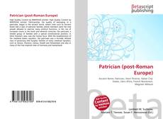 Bookcover of Patrician (post-Roman Europe)