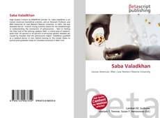 Bookcover of Saba Valadkhan