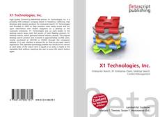 Bookcover of X1 Technologies, Inc.