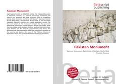 Capa do livro de Pakistan Monument