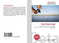 Bookcover of Acanthopterygii