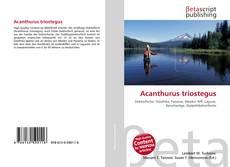 Buchcover von Acanthurus triostegus