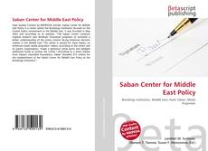 Bookcover of Saban Center for Middle East Policy