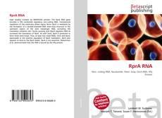 RprA RNA的封面