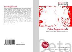 Copertina di Peter Bogdanovich