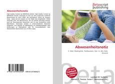 Capa do livro de Abwesenheitsnotiz