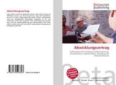 Bookcover of Abwicklungsvertrag