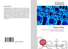 Bookcover of Voice Font