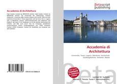 Accademia di Architettura的封面