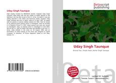 Bookcover of Uday Singh Taunque