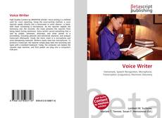 Bookcover of Voice Writer