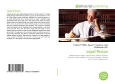Bookcover of Legal Person