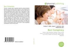 Copertina di Burr Conspiracy