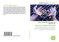 Bookcover of America's Most Wanted