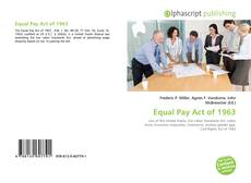 Buchcover von Equal Pay Act of 1963