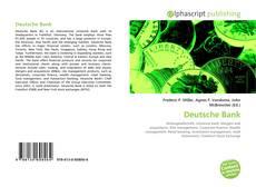 Capa do livro de Deutsche Bank