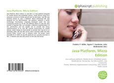 Bookcover of Java Platform, Micro Edition
