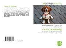 Capa do livro de Canine terminology