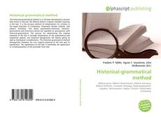 Bookcover of Historical-grammatical method