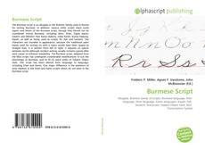 Bookcover of Burmese Script