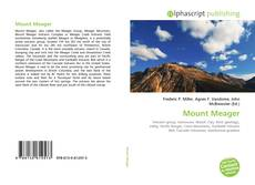Bookcover of Mount Meager