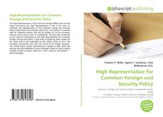 Bookcover of High Representative for Common Foreign and Security Policy