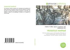 Bookcover of Historical method