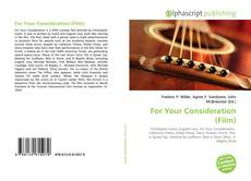 Bookcover of For Your Consideration (Film)