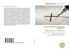 Bookcover of Elections in Mexico