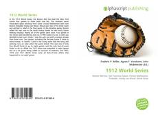 Bookcover of 1912 World Series