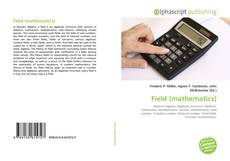 Bookcover of Field (mathematics)