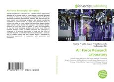 Bookcover of Air Force Research Laboratory
