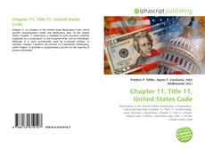 Bookcover of Chapter 11, Title 11, United States Code